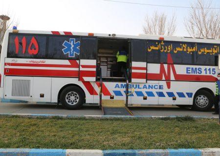 آغاز واکسیناسیون در اتوبوس آمبولانس اورژانس در تهران